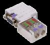 EasyConn PB PROFIBUS connector no diag - 90°